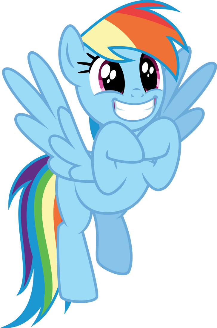 excited rainbow dash by osipush on deviantart