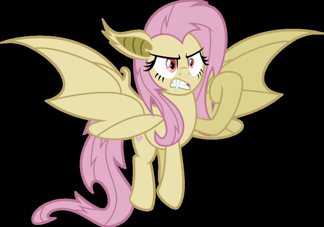 Corrupted Fluttershy (Batrage) by Osipush