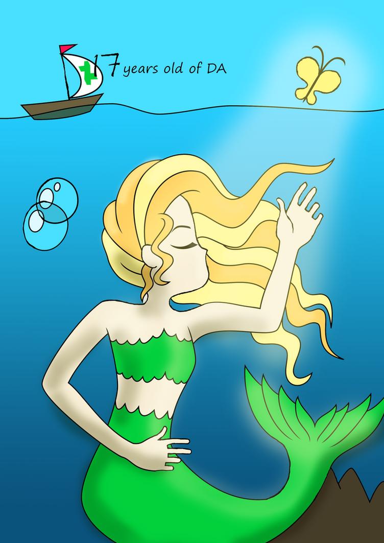 Shiny Mermaid (17th DA's B-Day) by Osipush