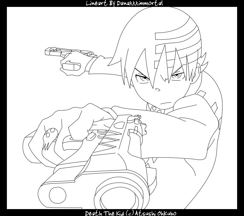 Lineart Soul Eater 03 by Danaxxximmortal on DeviantArt