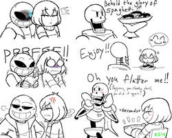Undertale - Frisk, Sans and Papyrus by KGN-000