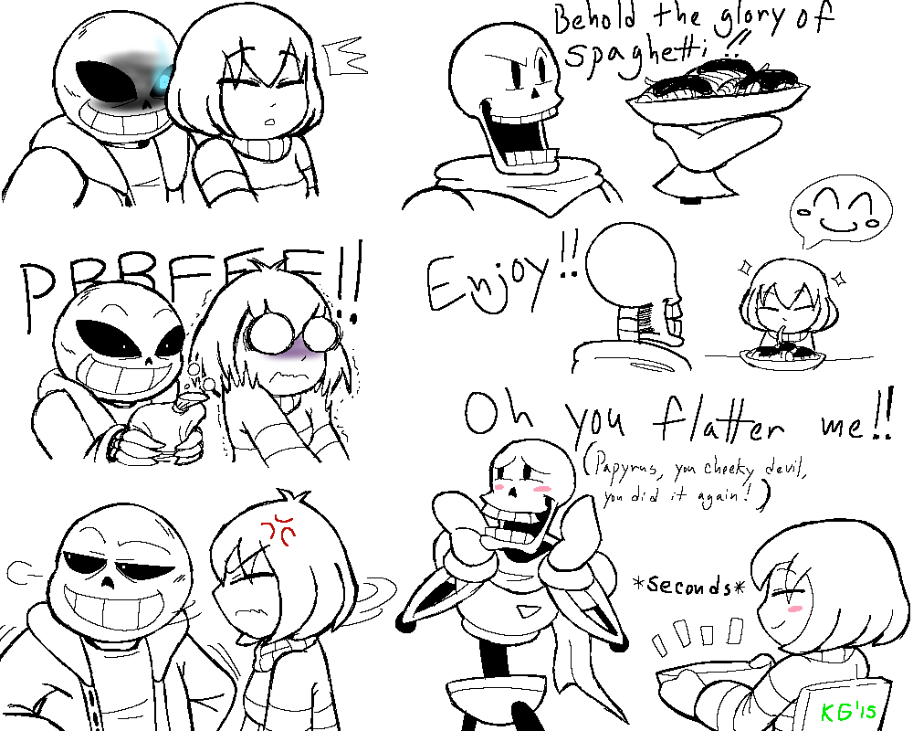 undertale - frisk, sans and papyrus