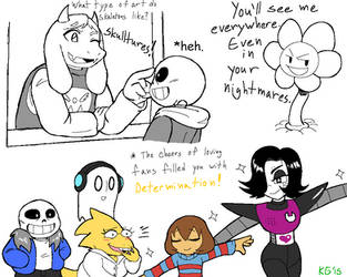 Undertale - Jokes, poses and a flower by KGN-000