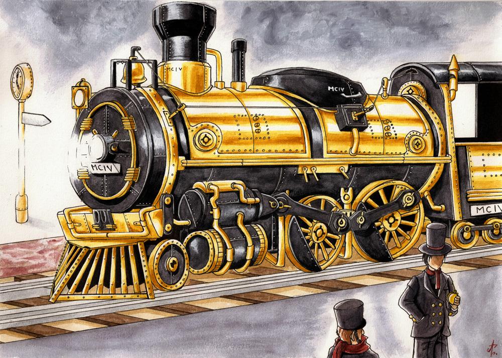SteamPunk Train by Arrarra