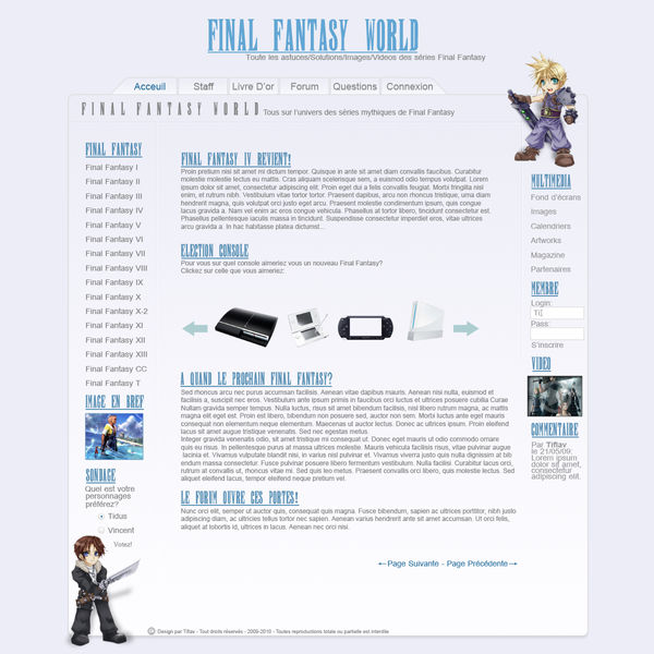 Design Final Fantasy by Tiflav