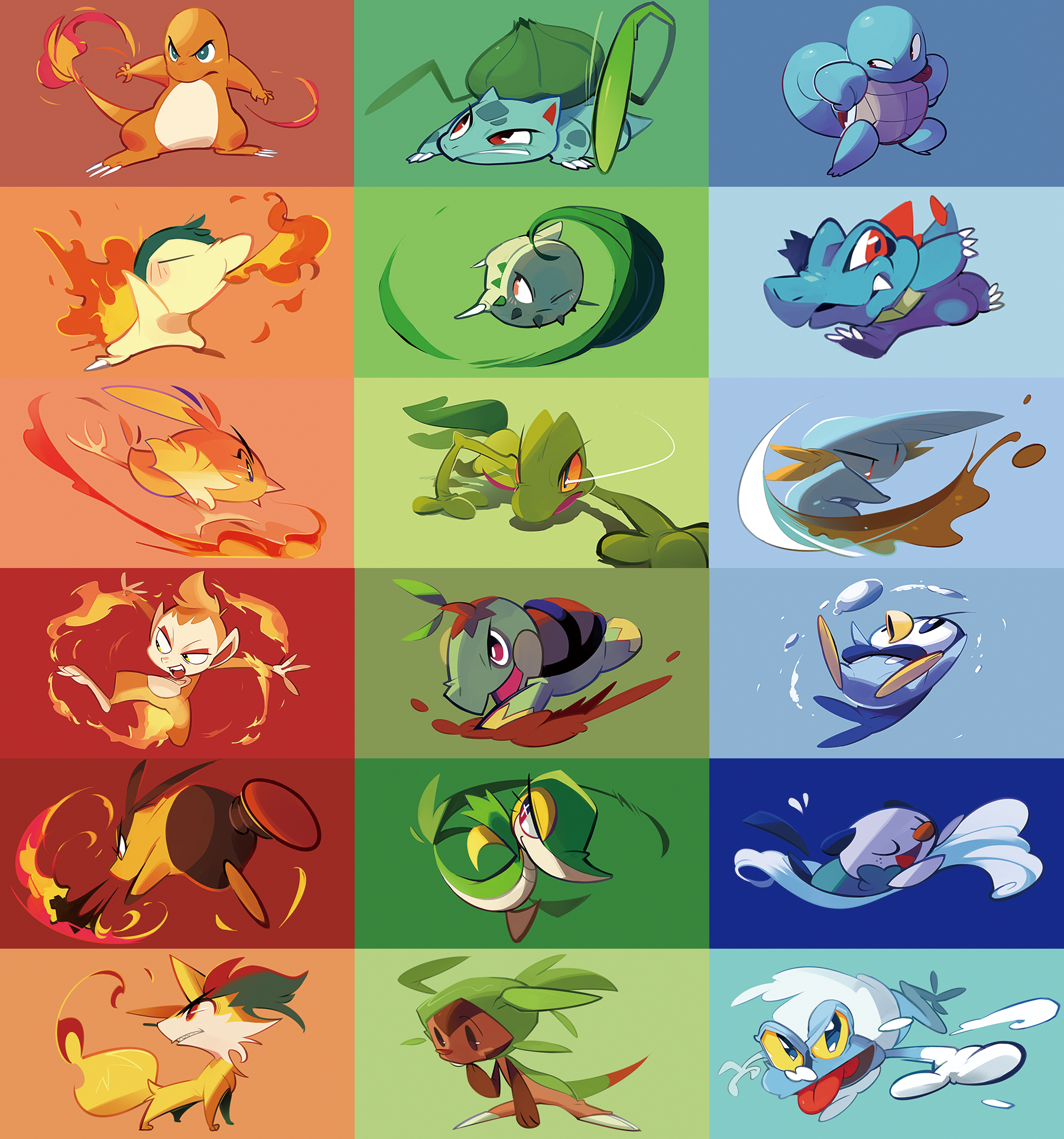the first pokemons by hakkasm