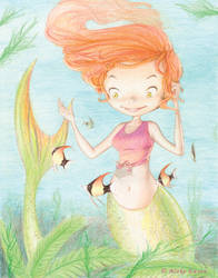 A Mermaids Friends by bureiku