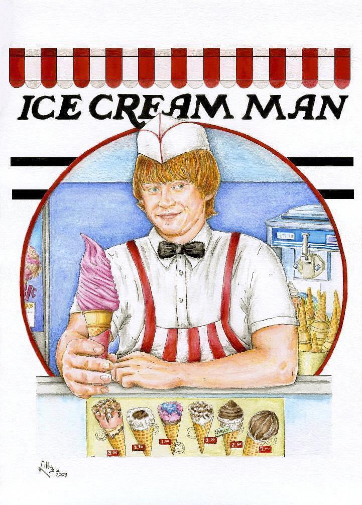 Rupert Grint The Ice Cream Man by lillywmw on DeviantArt