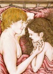 Ron Hermione Golden Slumbers by lillywmw