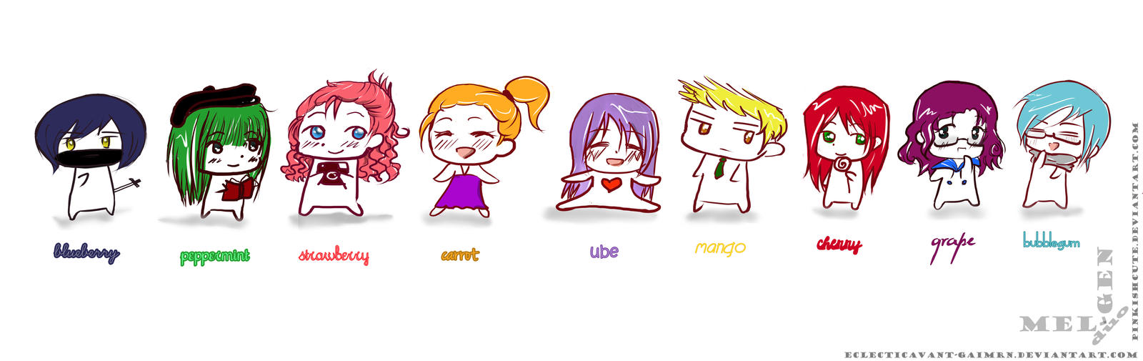 Chibi friends: Flavors by Pinkishcute on DeviantArt