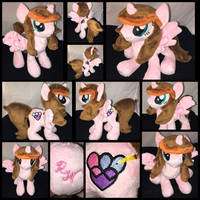 MLP 10in Floppy OC 'Rosey' ::Commission:: by RubioWolf