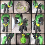 MLP 13 inch OC 'Lightwing' Plushie .:Commission:.