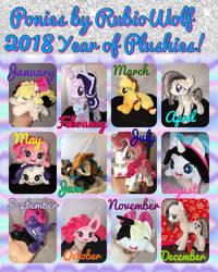 2018 Summary of Plushie Art by RubioWolf by RubioWolf