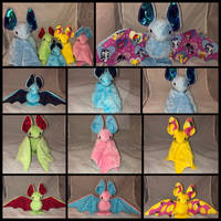 Assorted Bat Plushies For Sale!