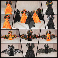 Assorted Halloween Bat Plushies For Sale!
