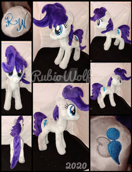 MLP 13 inch OC 'Poetry Light' Plushie :Commission: