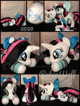 MLP 17 inch laying OC 'Heart Stitches' {Test}