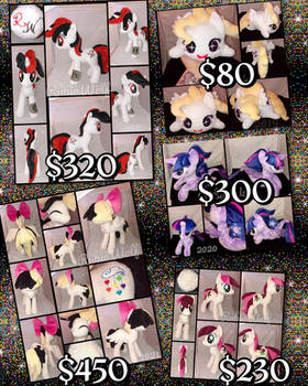 Assorted MLP Plushies For Sale (Discounted)
