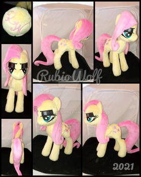 MLP 13 inch FlutterGoth Plushie .:Commission:.