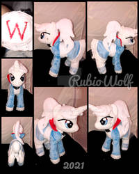 MLP 10 inch 'Weiss Schnee' Plushie .:Commission:.