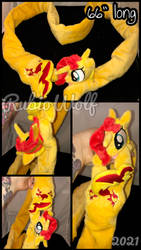 MLP Sunset Shimmer Magnetic Plushie Scarf .:Comm:.