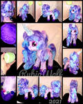 {SOLD} MLP-G5 13 inch Izzy Moonbow Plushie by RubioWolf