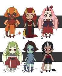 Dragon Adopts: OPEN 6/6 by MochaMeadow