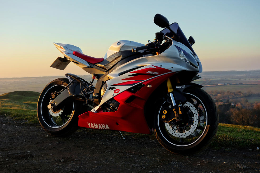 YAMAHA R6 2006 2CO RED AND WHITE by andyedwYamaha R6 White And Red