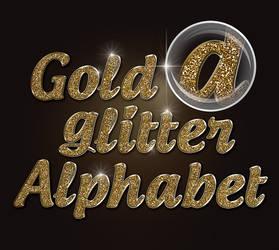 Glitter alphabet by GleenArt