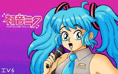 Hatsune Miku retro PC-98 style