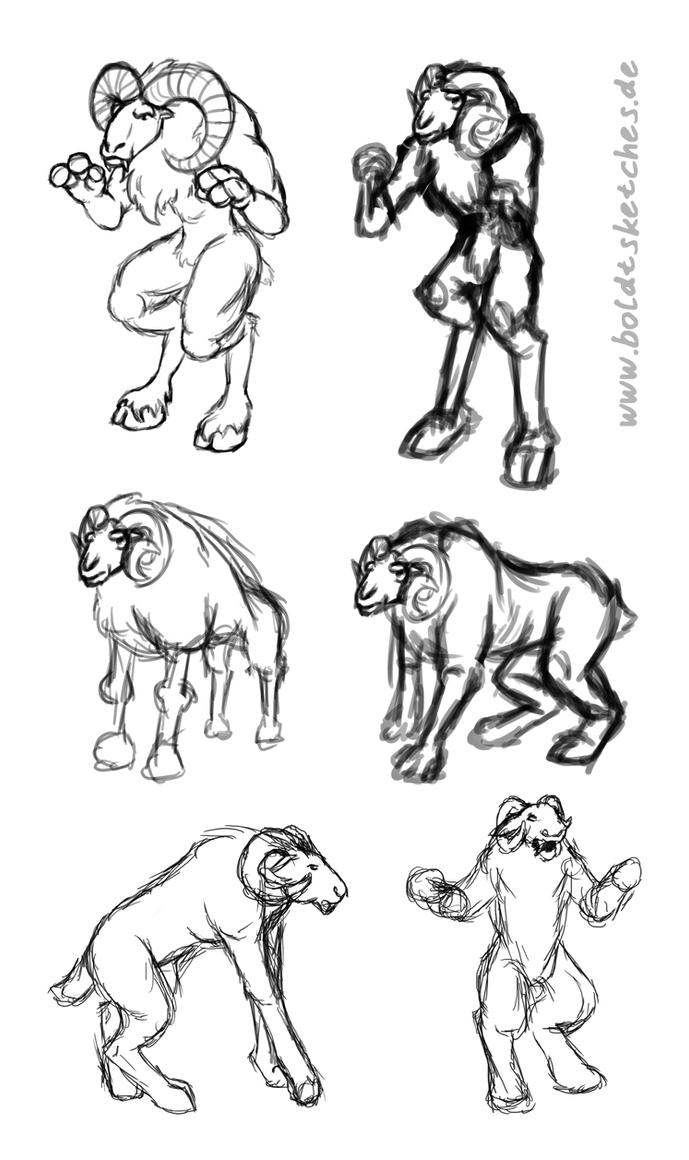 Werewool: Design of a certain mouflon by boldtSketches