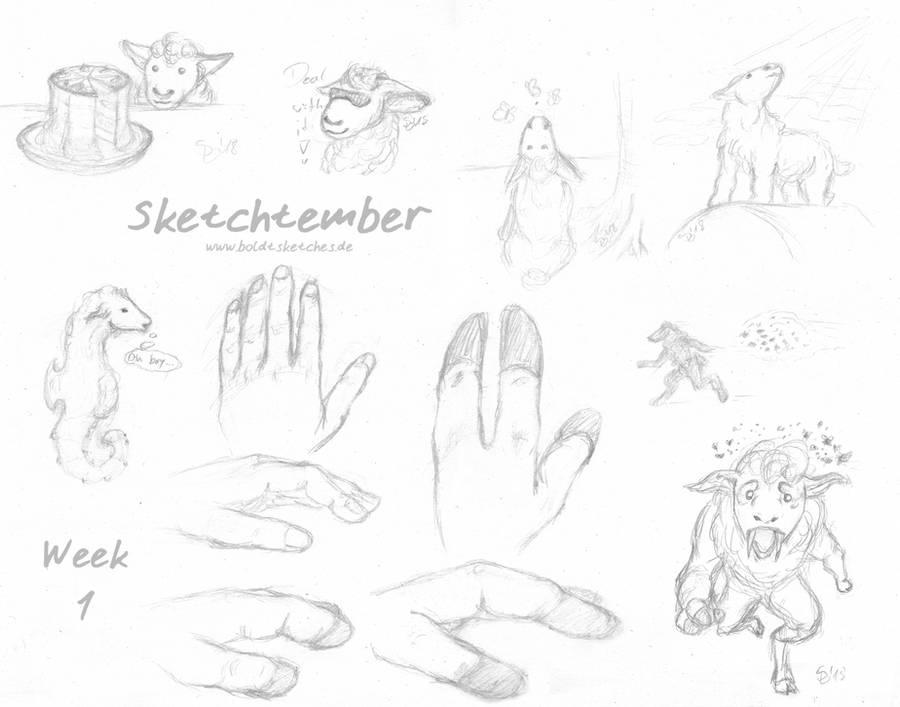 Sketchtember 2018 - Week One by boldtSketches