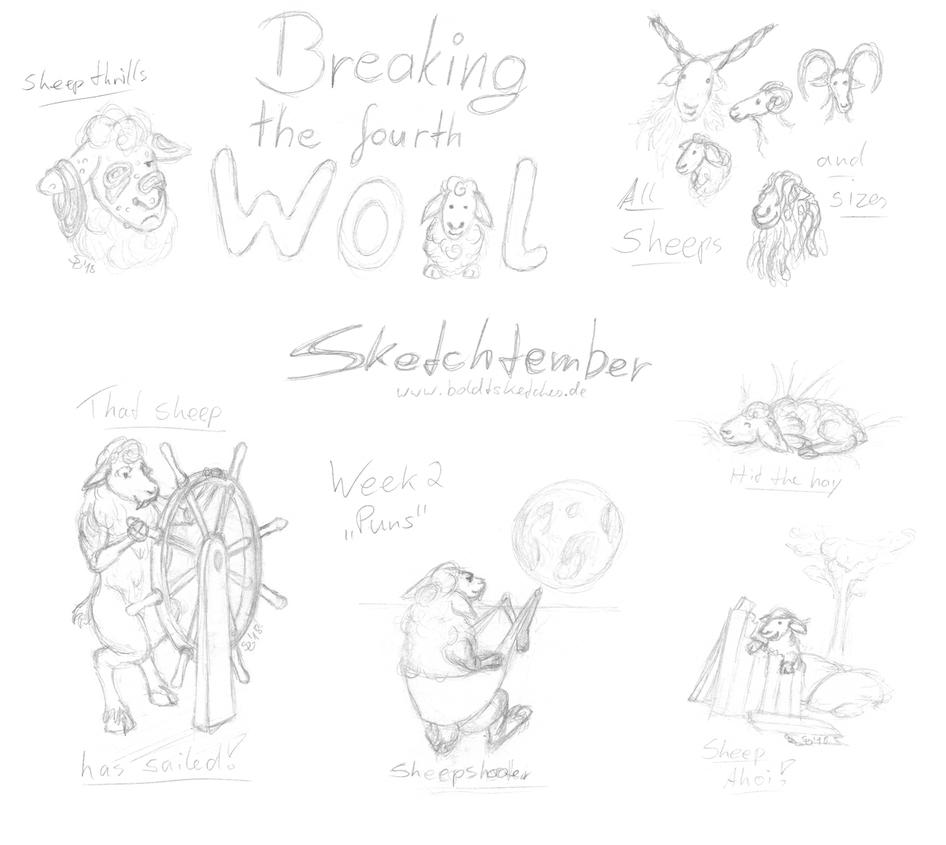 Sketchtember 2018 - Week Two by boldtSketches