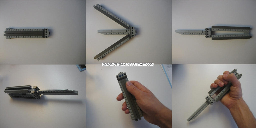how to make a lego balisong knife