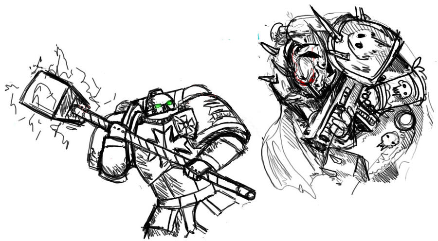 White Space Drawing Space Marine Drawing