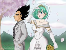 Vegeta and Bulma Wedding by mayabriefs