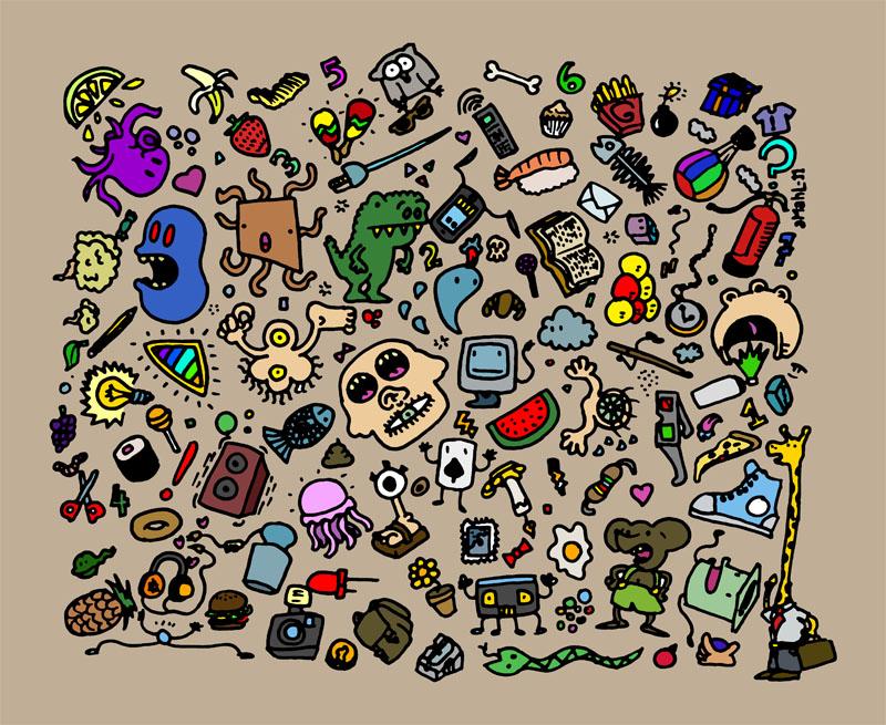 Doodles 01 by mazcunan