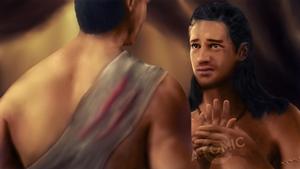Nasir tending Agron
