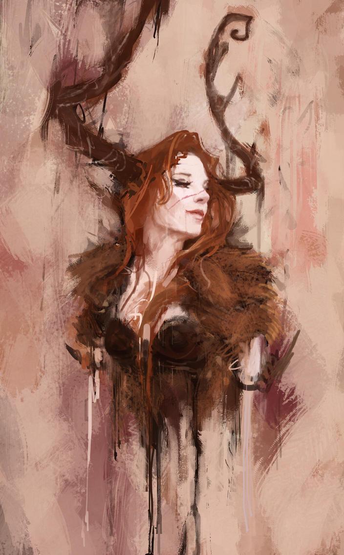 Barbarian queen by Toblin