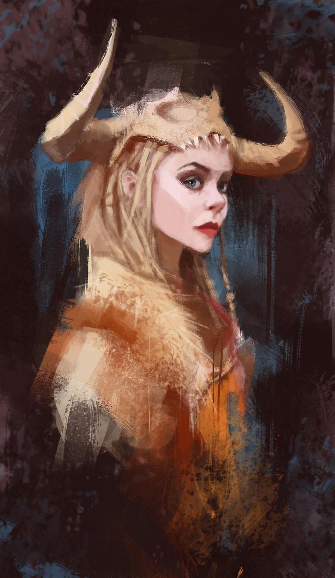 Female viking by Toblin