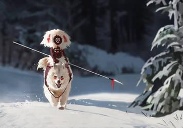 wolf rider speed paint by Toblin