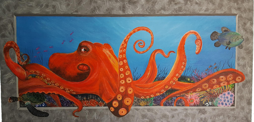 Octopus in the sea by JanGJP