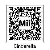 Mii QR Codes: Cinderella by MermaidloverTyler