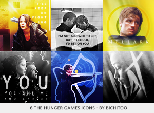 The Hunger Games Icons by AnyManson