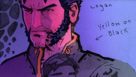Logan X2 Doodle by CarlPearce