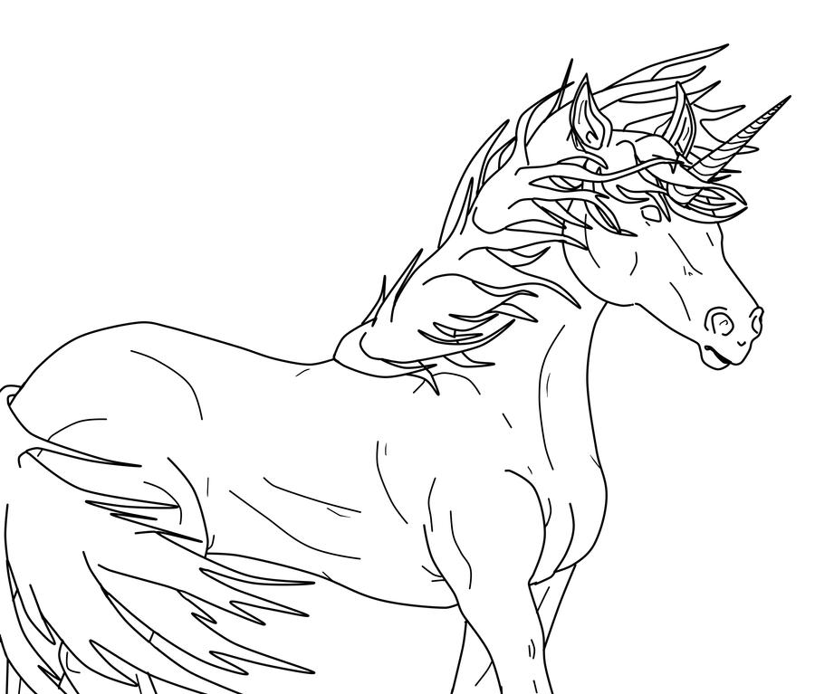 Simple Unicorn Coloring Pages House Design And