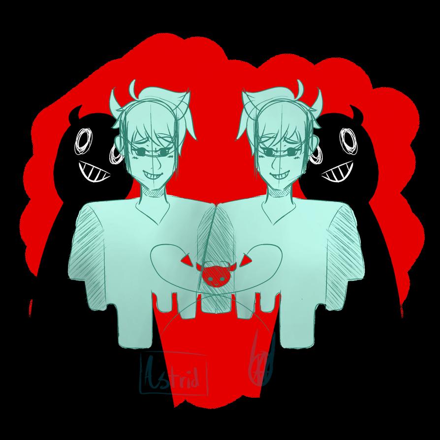 Devil Twins by BlackNOrangeCat