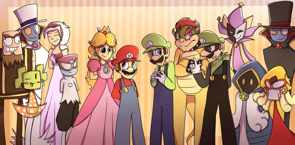 how to draw super paper mario characters