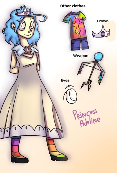 Princess Adeline (OC) by mariogamesandenemies