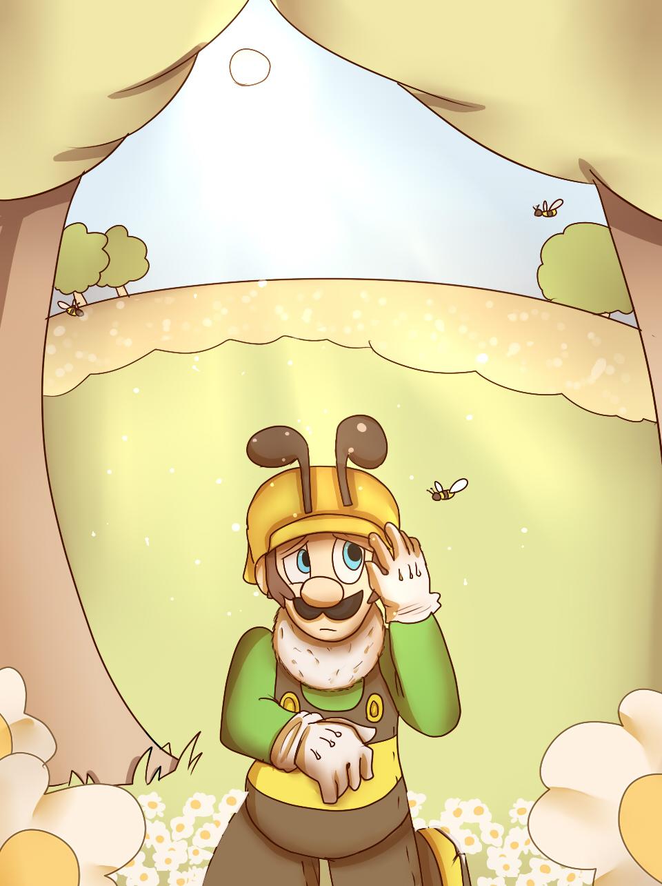 Bee Luigi by mariogamesandenemies